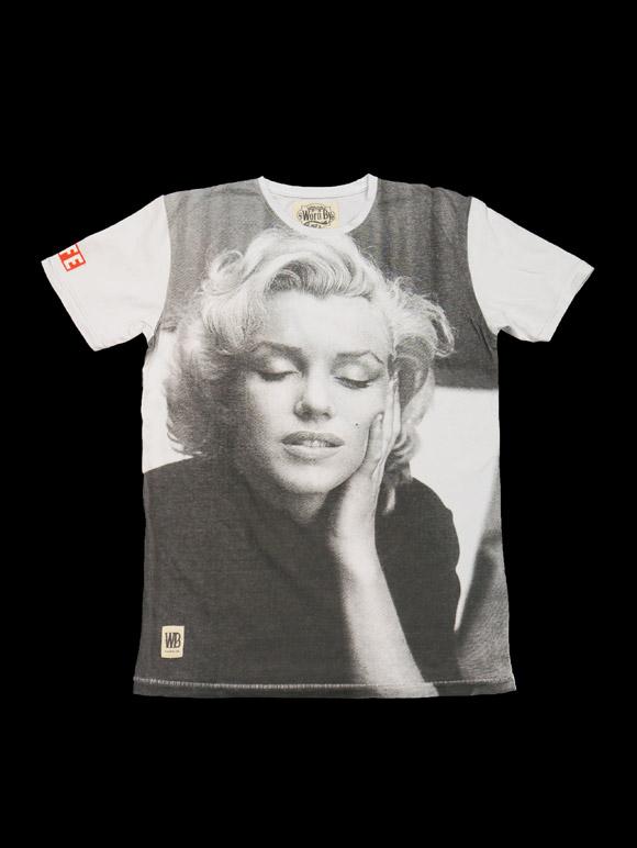 Worn By【LIFE T-Shirt -Marilyn Monroe-】(14B-1-RH-04wb)
