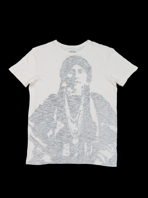 Worn By【Native American T-Shirt Ecru Cat Stevens】(14B-1-RH-0137)