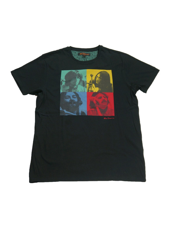 "BEN SHERMAN ""FACES""  T-Shirt Black(14B-1-RH-0146)"