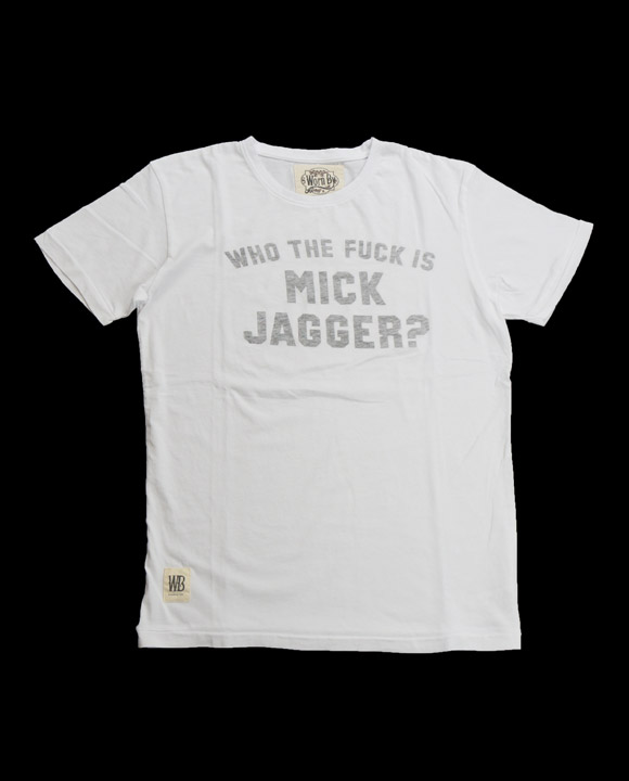 Mick Jagger Who the Fuck T-shirt(16B-1-RH-0745)