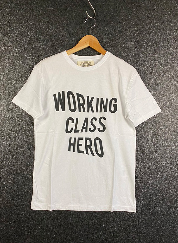 Worn By【WORKING CLASS HERO T-shirts】(18B-1-RH-0970)
