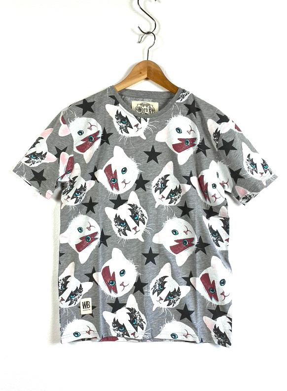 Worn By【KISS CAT T-shirts】(15B-1-RH-0703)
